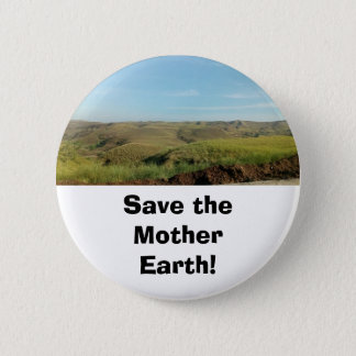 Save the Earth Button Pin