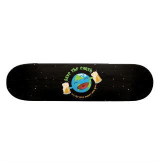 Save The Earth Custom Skate Board