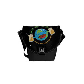Save The Earth Messenger Bags