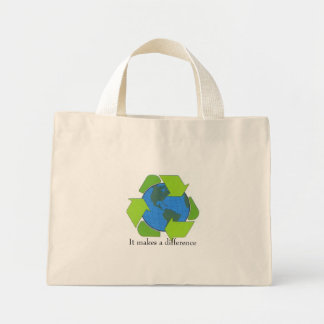 Save the earth mini tote bag