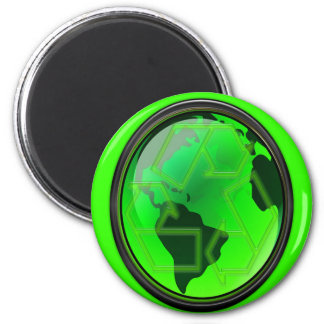 Save the Earth-Recycle-GoGreen 6 Cm Round Magnet