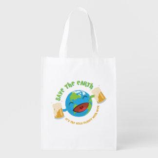 Save The Earth Reusable Grocery Bag