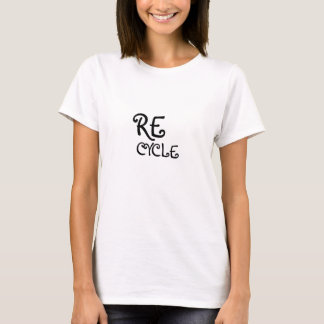 SAVE THE EARTH tshirt Recycle Gal