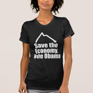 Save the Economy, Vote Obama Tshirt
