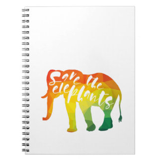 Save the Elephants. Calligraphy, Graphical Art Notebooks