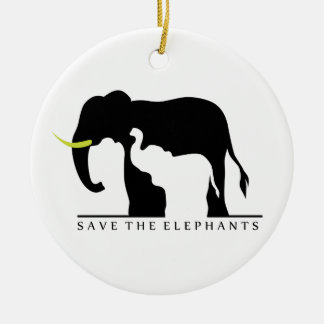 Save the Elephants Ceramic Ornament