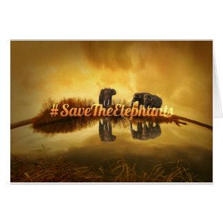 Save The Elephants Design Card