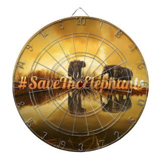 Save The Elephants Design Dartboard