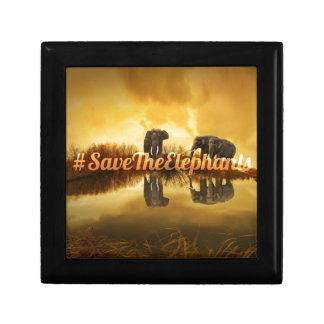 Save The Elephants Design Gift Box