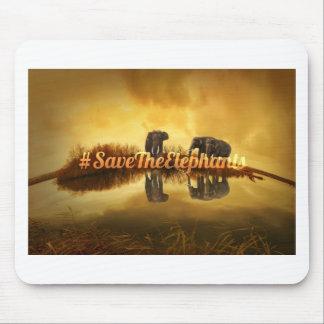 Save The Elephants Design Mouse Pad