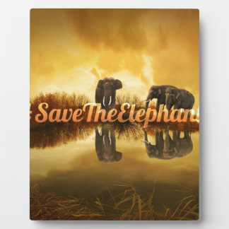Save The Elephants Design Plaque