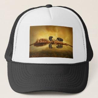 Save The Elephants Design Trucker Hat