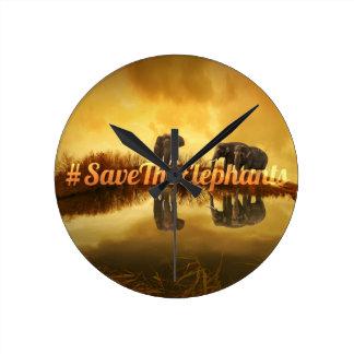 Save The Elephants Design Wall Clock