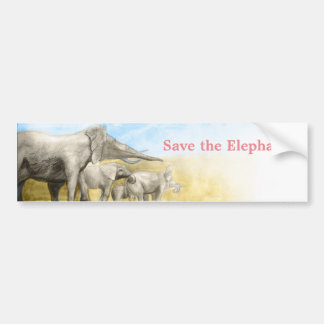 Save the elephants wildlife funds sticker