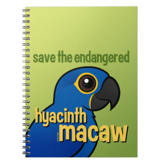 Save the Endangered Hyacinth Macaw Notebook