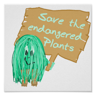 save the endangered plants poster