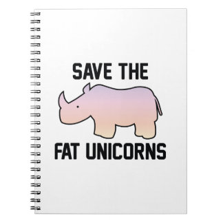Save The Fat Unicorns Notebook