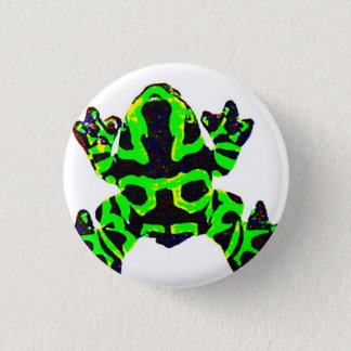 save the frogs 3 cm round badge