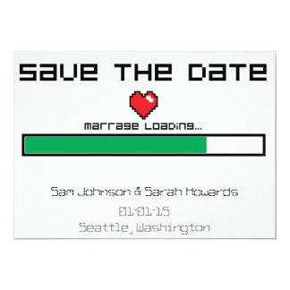Save The Game - Video Game Style 13 Cm X 18 Cm Invitation Card