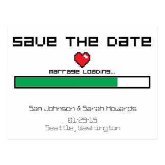 Save The Game - Video Game Style Postcard