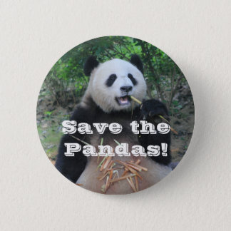 Save the Giant Pandas 6 Cm Round Badge