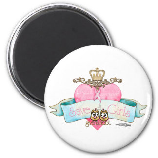 Save the Girls - Give a Hoot 6 Cm Round Magnet