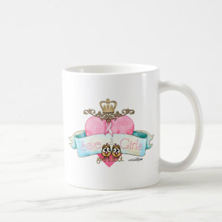 Save the Girls - Give a Hoot Basic White Mug