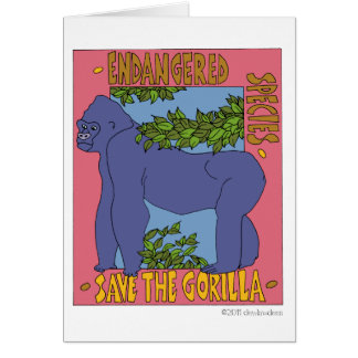 Save The Gorilla Card