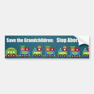 Save the Grandchildren: Stop Abortion! Bumper Sticker