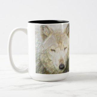 Save The Great American Wolf Two-Tone Coffee Mug