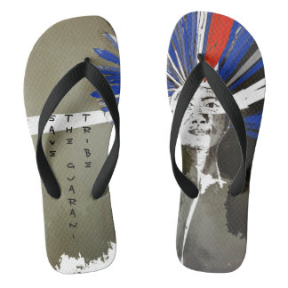 SAVE THE GUARANI TRIBE FLIP FLOPS