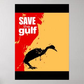 Save the gulf print