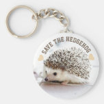 Save The Hedgehog Basic Round Button Key Ring