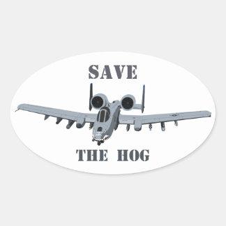 Save the Hog (A-10) Oval Sticker