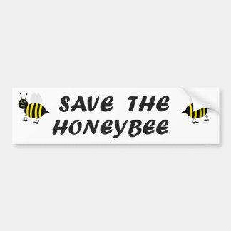 Save the Honeybee Bumper Sticker