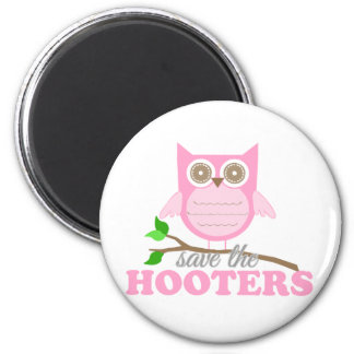 Save the Hooters 6 Cm Round Magnet