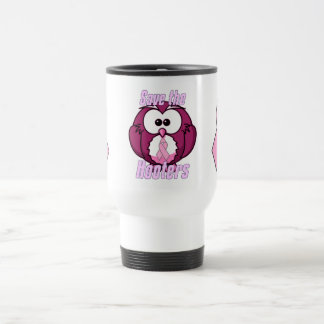 Save The Hooters Breast Cancer Travel Mug