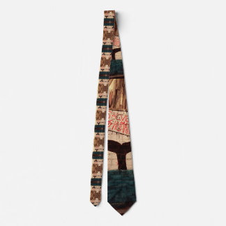 Save the Humans- Animal Protest Street Art tie