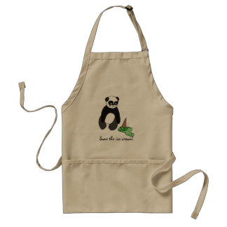 Save the ice-cream! adult apron