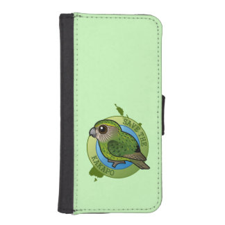 Save the Kakapo iPhone SE/5/5s Wallet Case