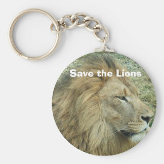 Save the Lions Basic Round Button Key Ring