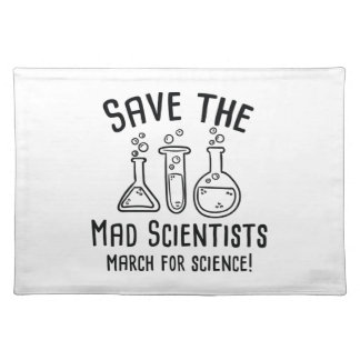 Save The Mad Scientists Placemat