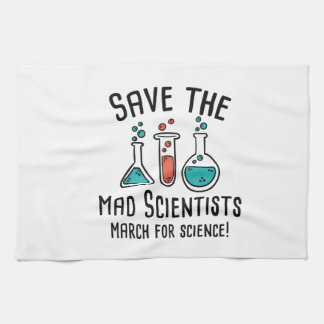 Save The Mad Scientists Tea Towel