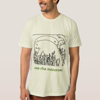 save the manatees mens T-Shirt