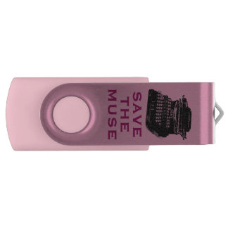 Save the Muse Swivel USB 2.0 Flash Drive