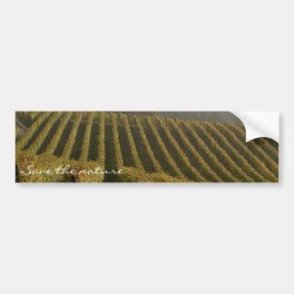 save the nature vine grapes sticker car bumper sticker