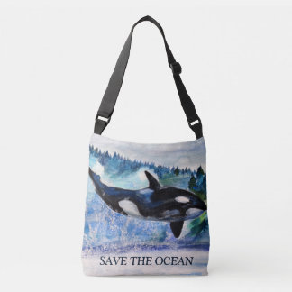 Save The Ocean Custom All-Over-Print  Bag