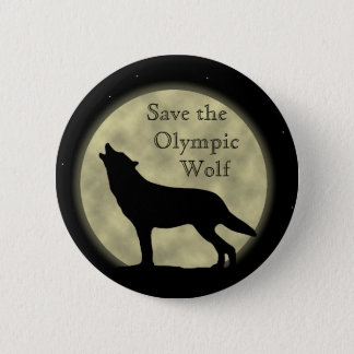 Save the Olympic Wolf 6 Cm Round Badge