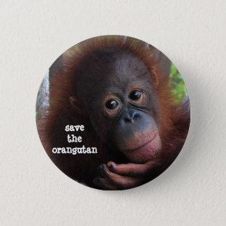 Save the Orangutans! 6 Cm Round Badge