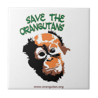 Save the Orangutans Custom Trivet